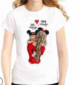 Mother Daughter Matching T-shirts, Mom Baby T-shirt