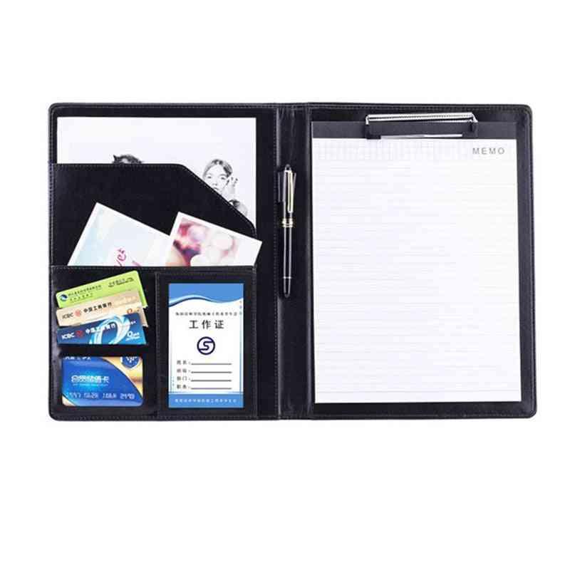 Multifunction A4 Pu Leather File Folder Padfolio Bags