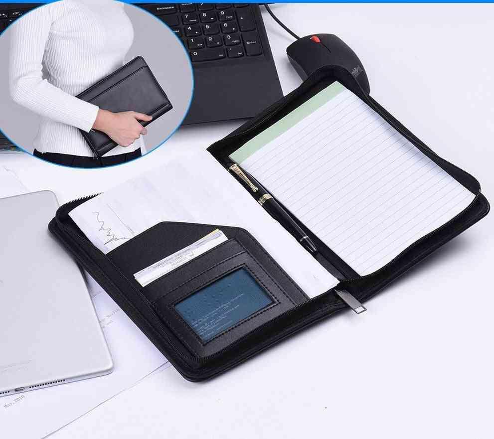 Business Folder Document A5 Pu Leather Case Organizer