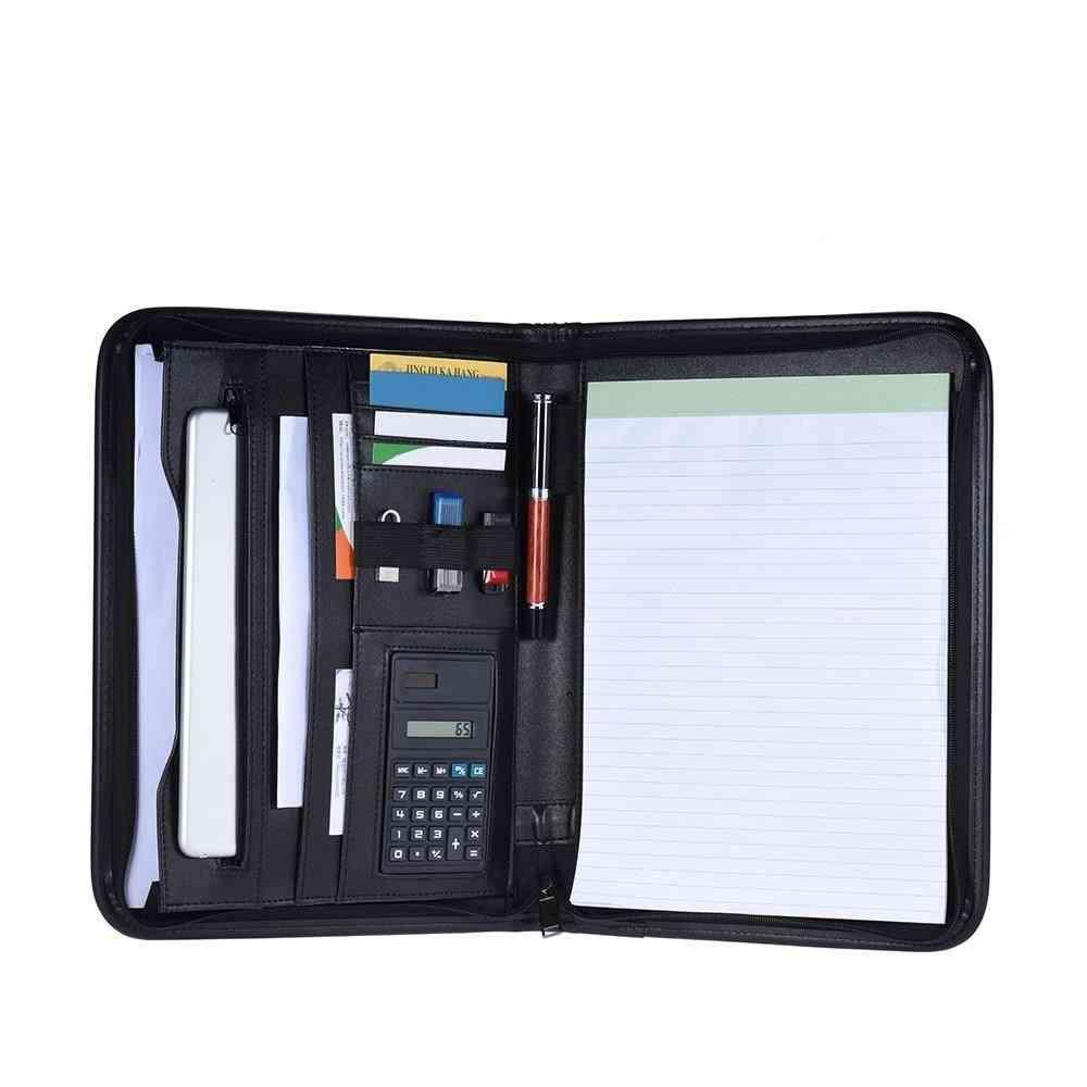 Multifunctional Professional Business Zippered Portfolio