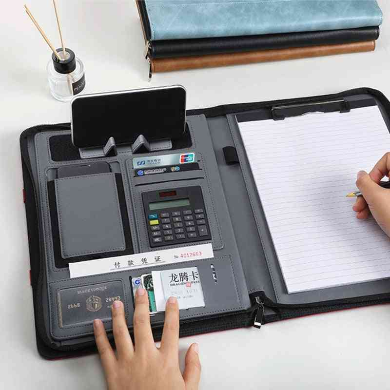 A4 Portable File Folder Comfortable Pu Cover