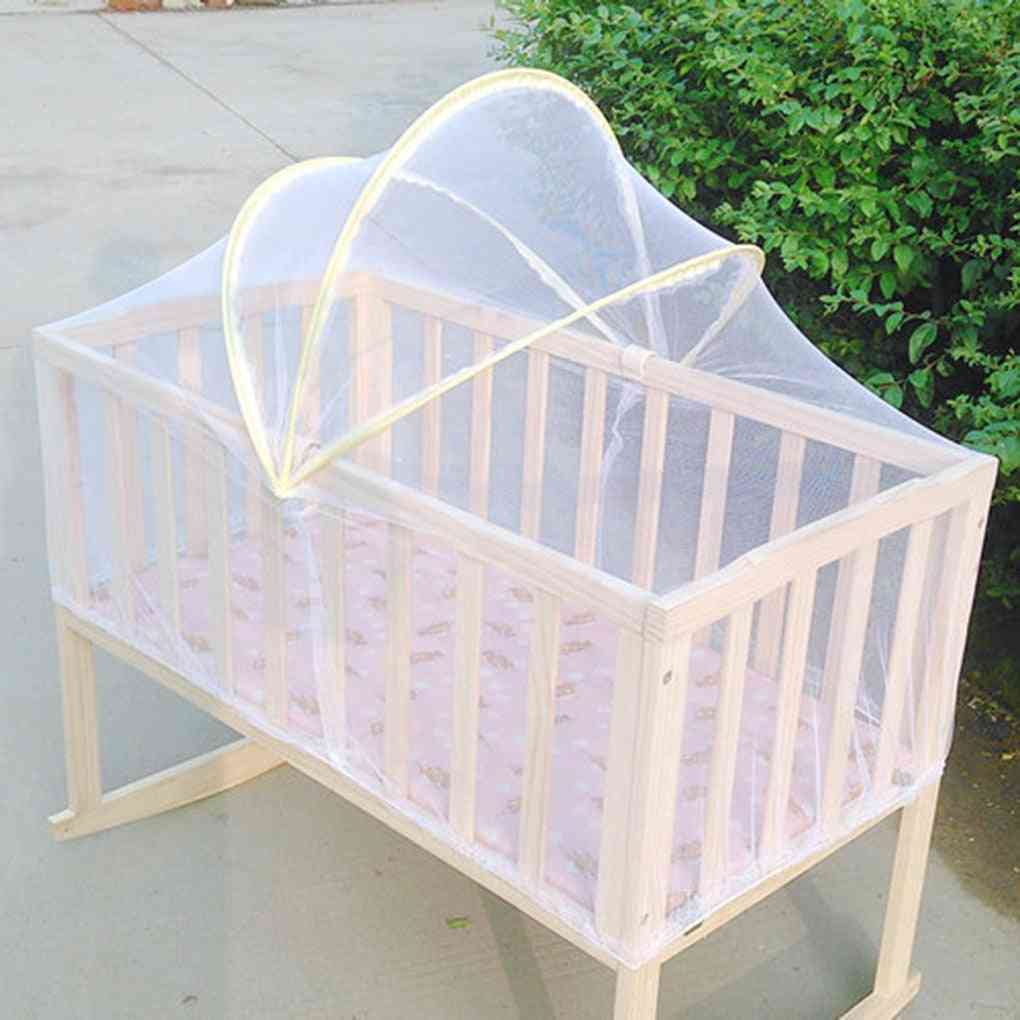 Baby Kids Cradle Mosquito Net Crib Cot, Mesh Canopy, Infant, Toddler, Playpens Bed Tent