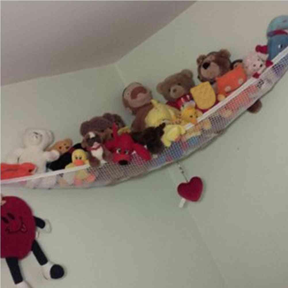 Stuffed Storage Tidy Baby Animals, Dolls Organizer, Kids Soft, Large, Nursery Teddy Net Mesh Toy Hammock