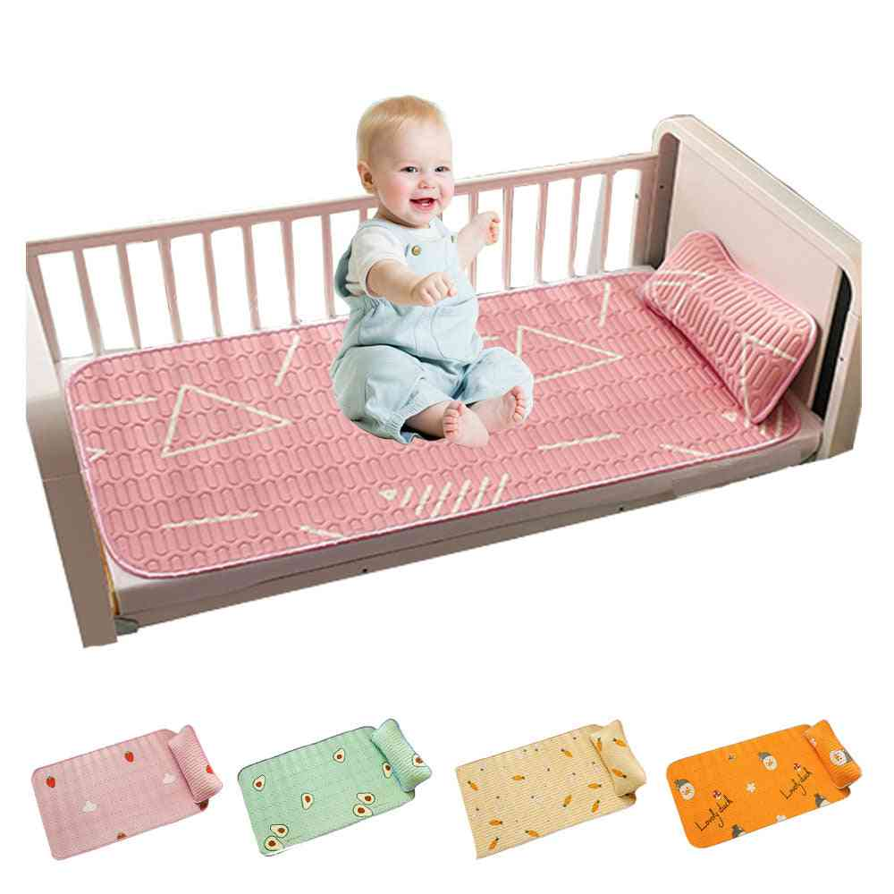 Newborn Baby Cool Mat, Infant Mattress Cover For Summer, Toddler Breathable Crib Fitted Sheet, Cartoon Bedding Set