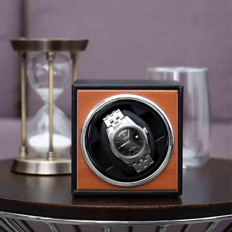 Usb Power Supply Black Mechanical Watch Winding Box Jewelry Storage Organizer