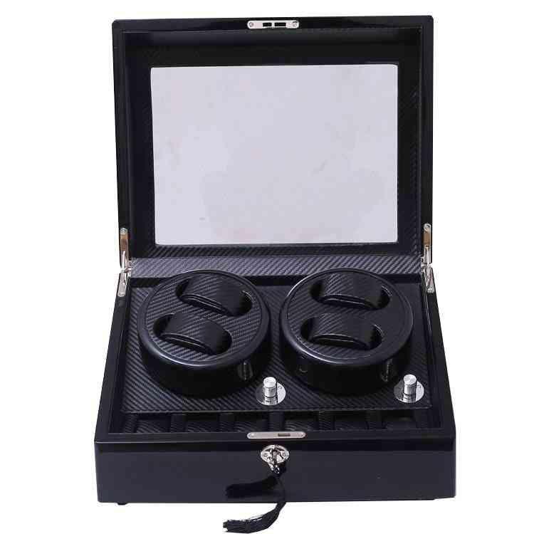 Dhl Wooden Carbon Fiber Watch Accessories Box Winder Case