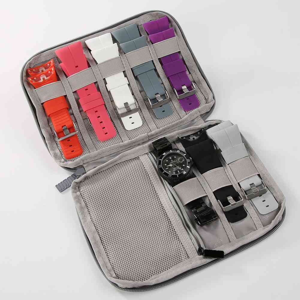 Multifunction Portable Watch Strap Organizer - Watch Band Box Storage Bag