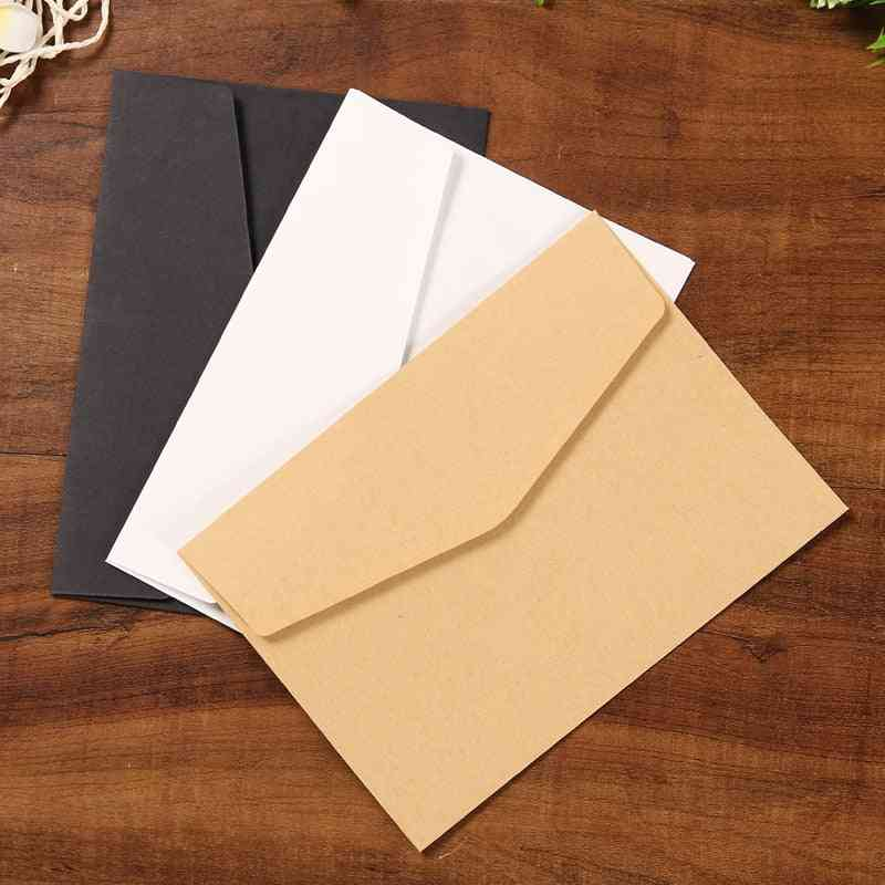 Solid Color Blank Envelope Greeting Card Postcard