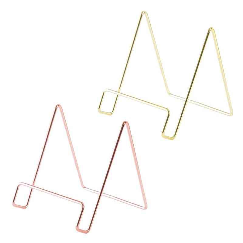 Creative Geometric Storage Rack Simple Wrought Iron Organizer Tablet
