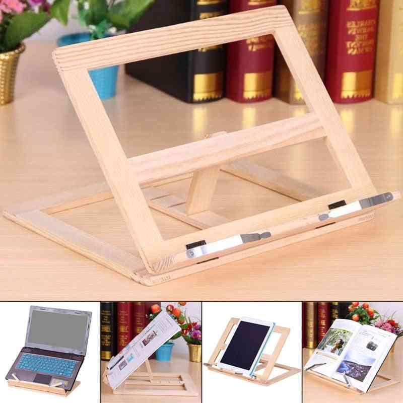 Wooden Frame Reading Bookshelf Bracket Tablet