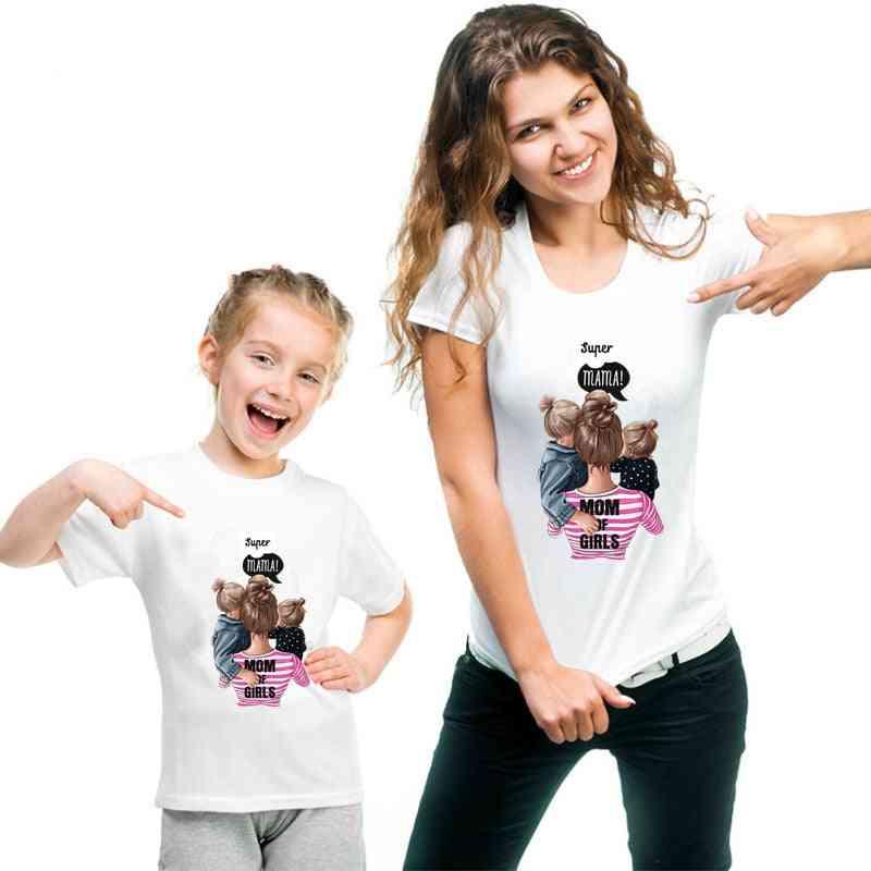 Family Matching Clothes T-shirt, Women Daughter Mum T-shirt, Tops