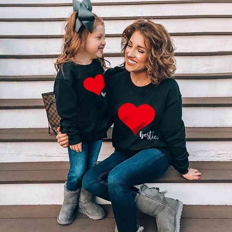 Autumn Mother Daughter Son Sweatshirt, Family Clothes