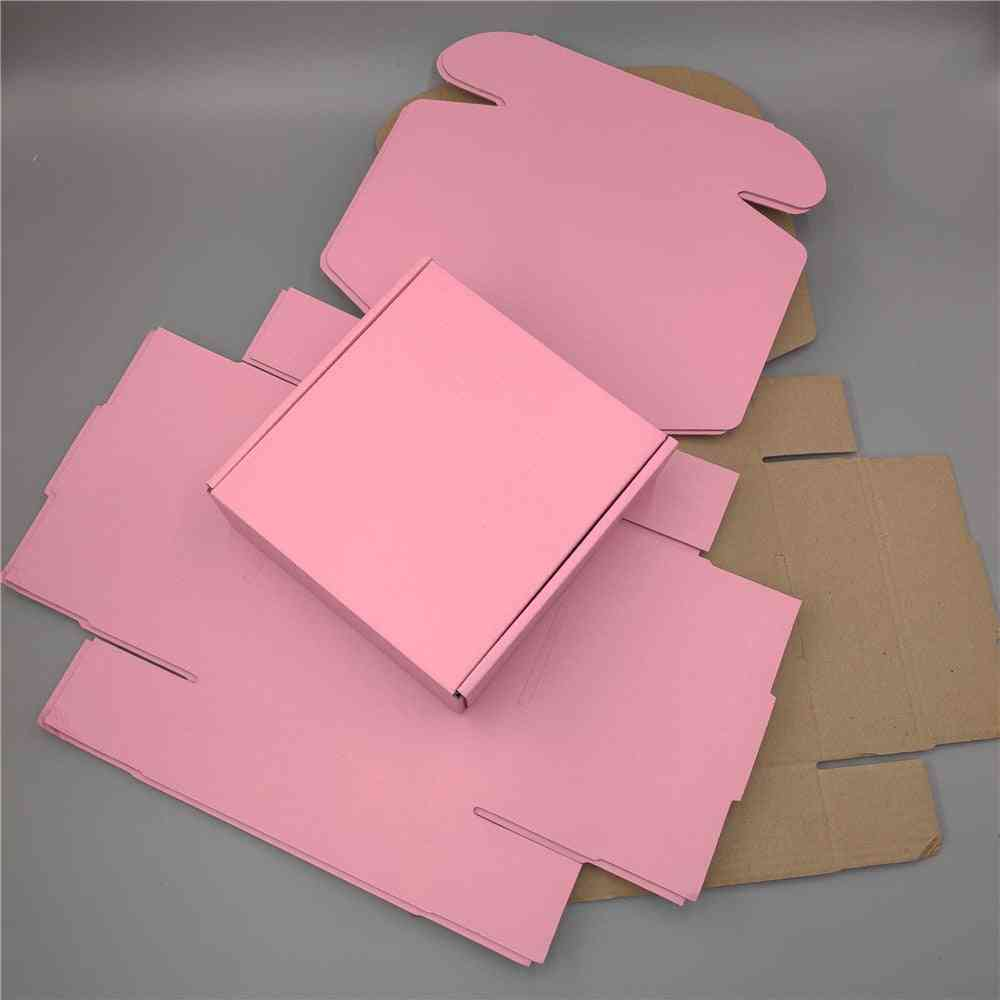Pink Mailer Box Corrugated Paper Box Square Shipping Boxes