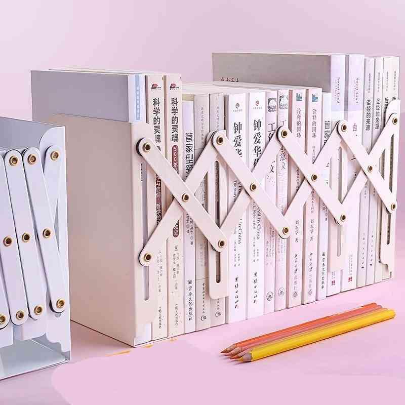 Bookshelf Large Metal Bookend Desk Holder Stand