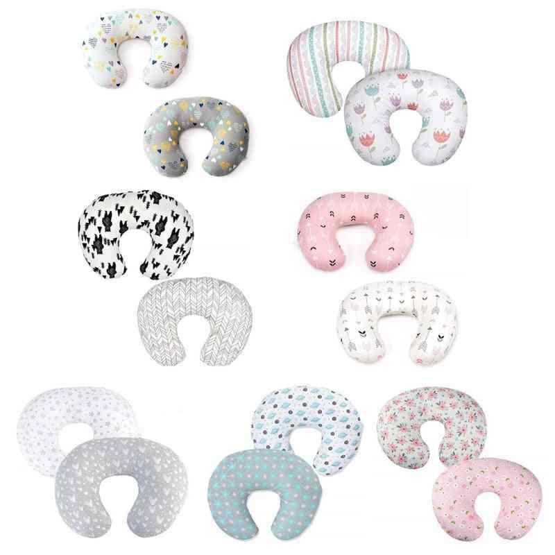 Baby Feeding Pillowcase, U Shaped Cushion, Breastfeeding Nursing Pillow Cover