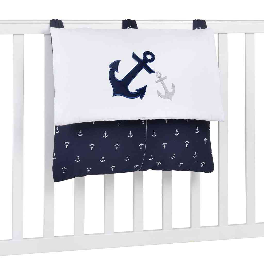 Navy Anchor Patch Nautical Embroidered Diaper Bag