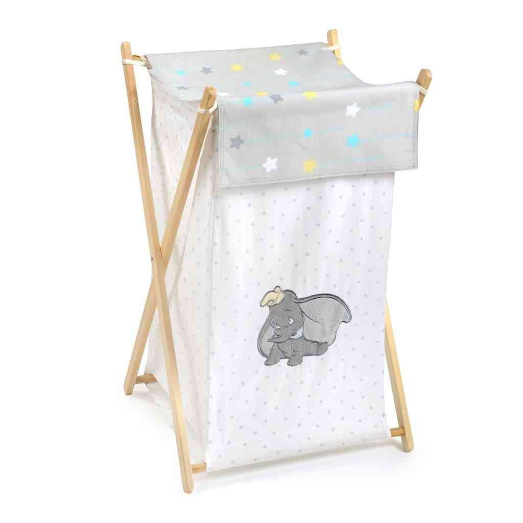 Embroidery Dumbo Laundry Cloth Basket
