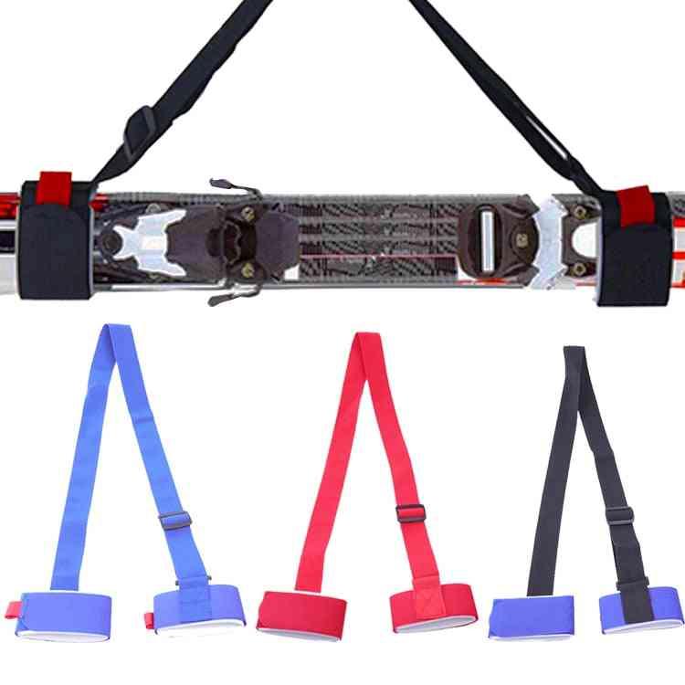 Adjustable Nylon Skiing Bags Skiing Pole Shoulder Hand Carrier Lash