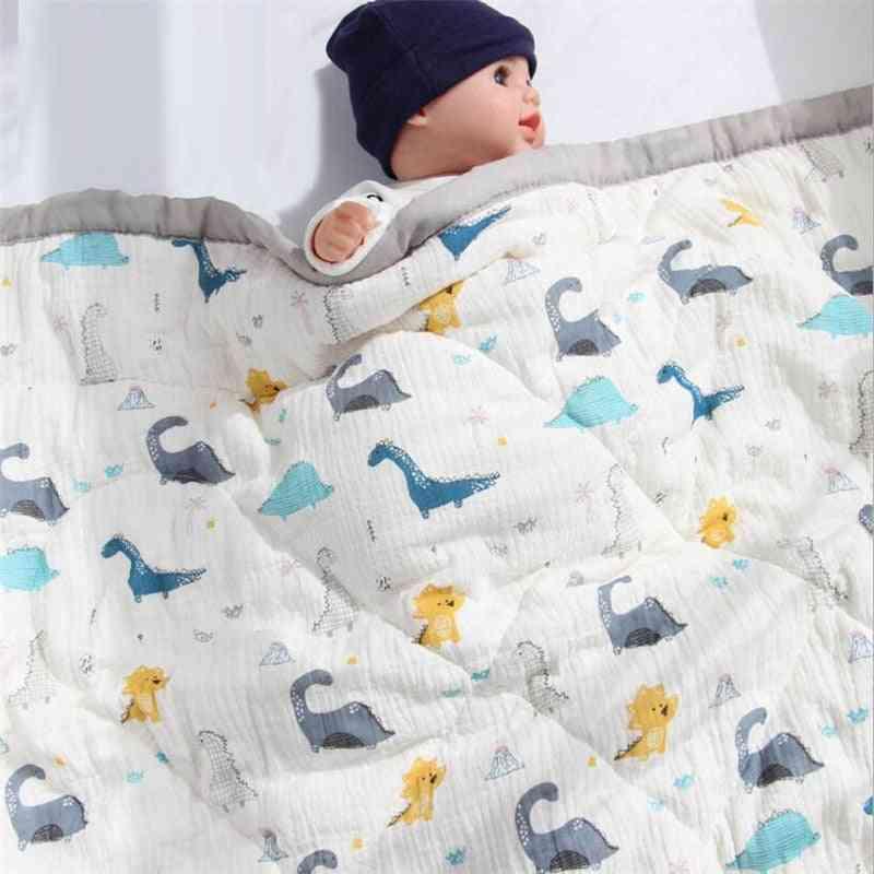 Cotton Kids Bedding Quilt, Baby Nursery School Sleeping Blanket, Soft, Warm, Light Blankets