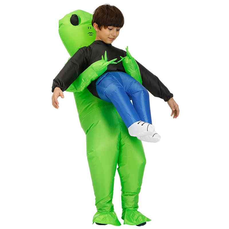 Inflatable Costume Green Alien Kids Party Dress
