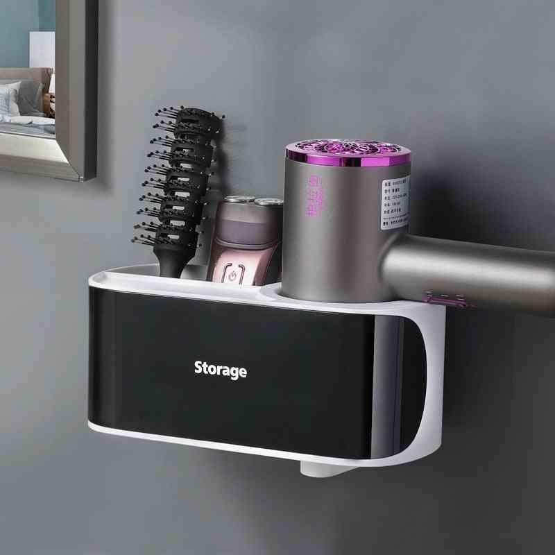 Magic Self-adhesive Strip Hair Dryer Holder Comb Rack Stand