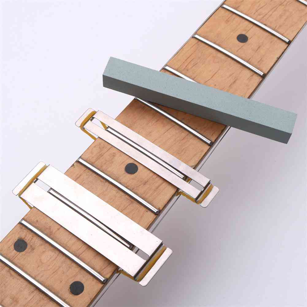 Guitar Fret Wire Sanding Stone Protector, Kit Finger Plate