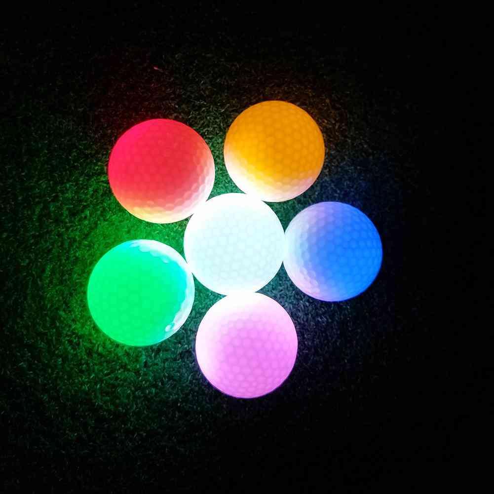 Colorful Glitter Led Light Golf Ball