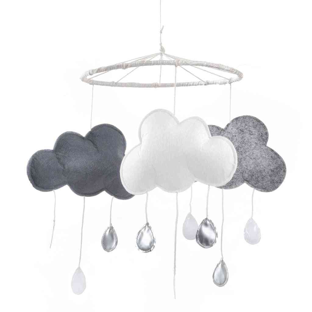 Modern Three Cloud Gray Mobile White Large Dream Catcher Mobile