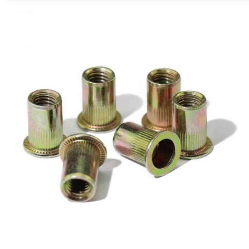 100pcs M6 M8 Zinc Plated Carbon Steel Knurled Nuts