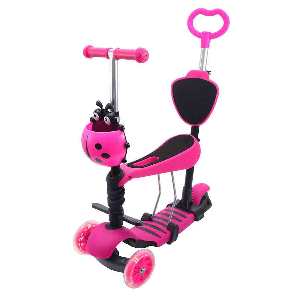 Mini Kick Wheel Scooter, Flashing Led Wheels, Tilt Push Seat, Kids,, Fun Sport Toy