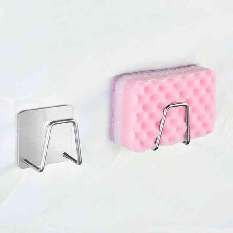 Steel Adhesive Sponge Holder Sink Caddy For Kitchen