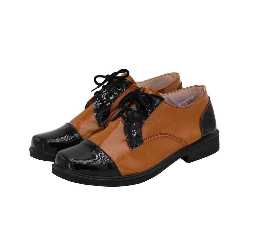 Joaquin Phoenix Cosplay Shoes, Joker Arthur Fleck Leather Shoes