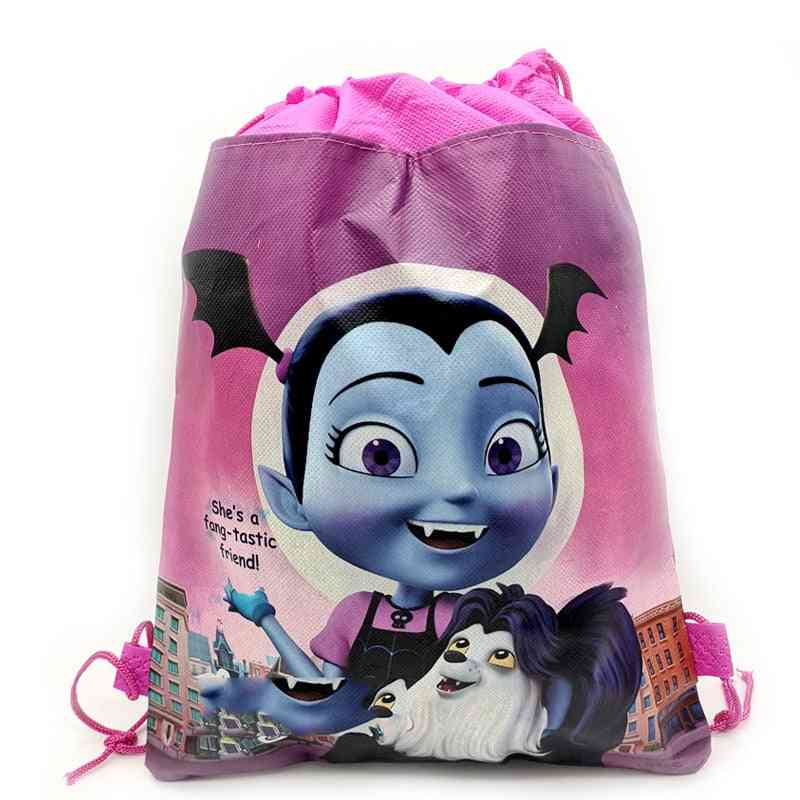 Drawstring Backpacks, School Bags,,, Popular Cartoon Vampirina Printing