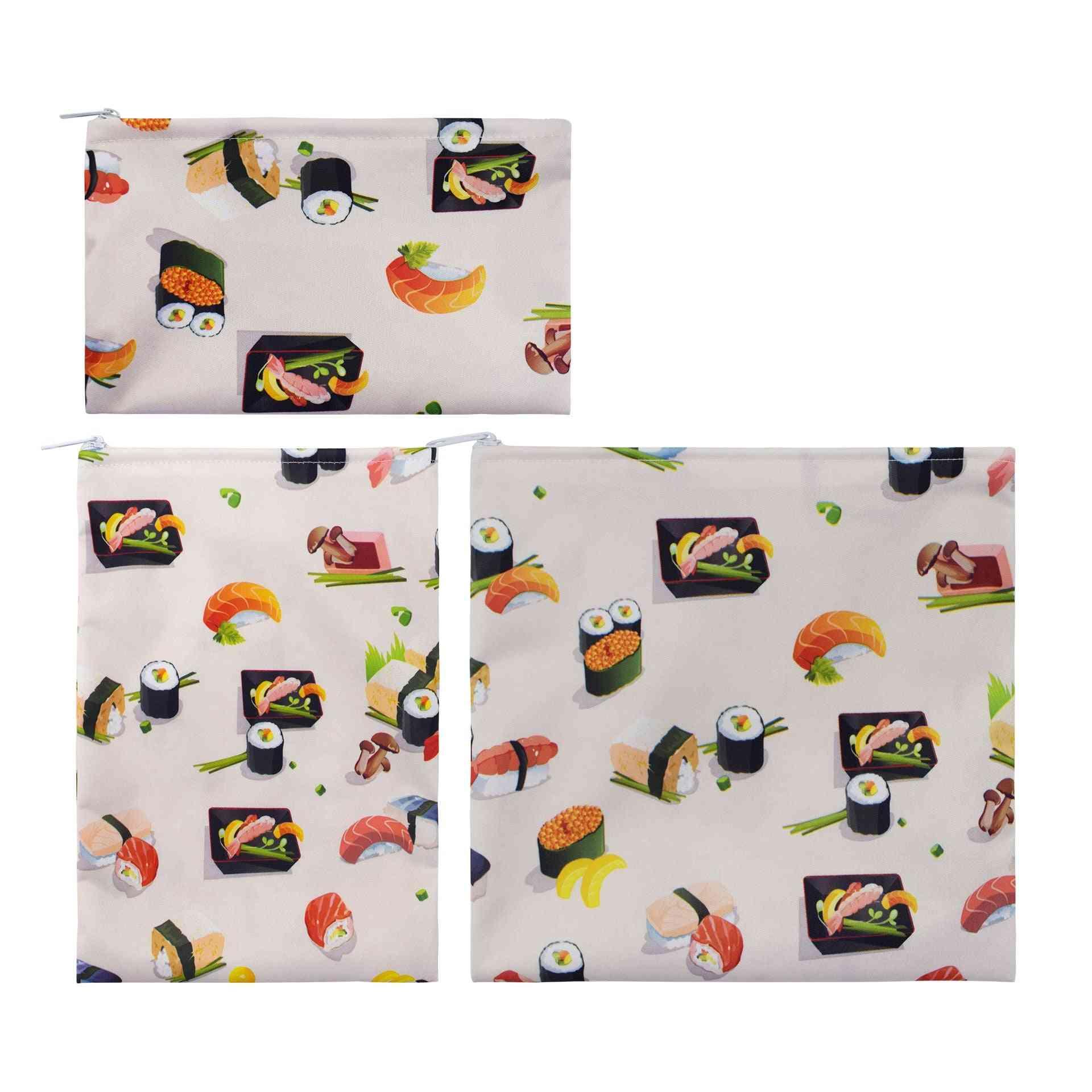 Reusable Food Snack Bags, Waterproof, Leakproof, Lunch Bread Storage Bag, Bread Eco-friendly Heating