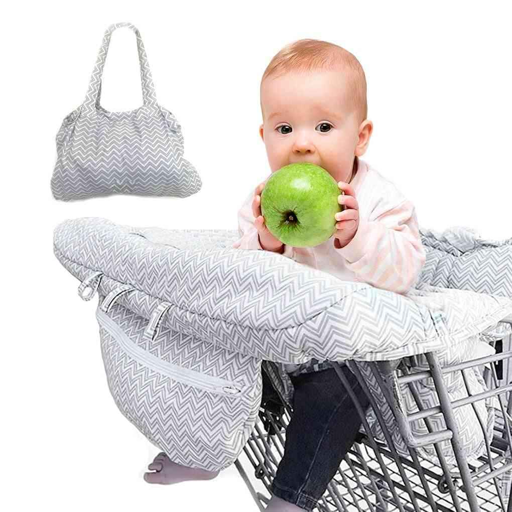 Foldable Baby Shopping Cart Cover, Safety Seats, Kids Chair Mat, Anti-stain Highchair Cart Seat Protect Covers