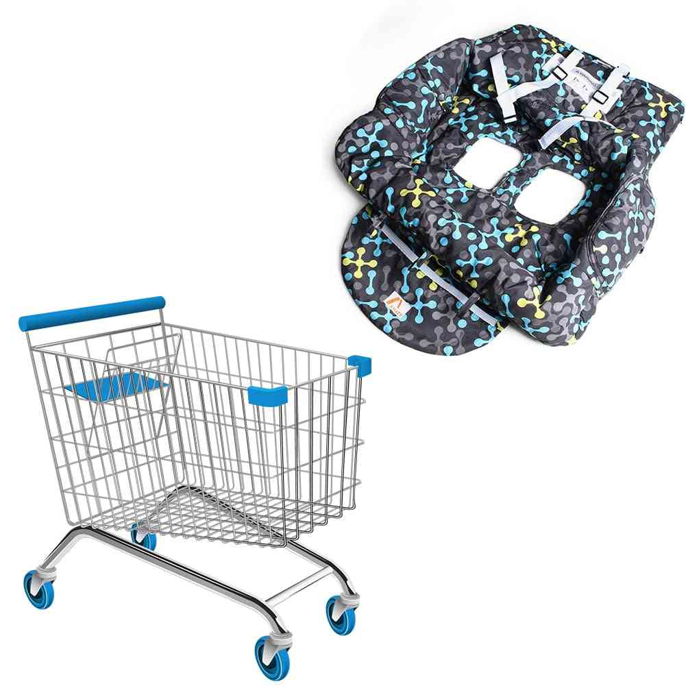 Printed Baby Supermarket Shopping Cart, Dining Chair, Cushion, Security Protection, Travel Portable Cushions