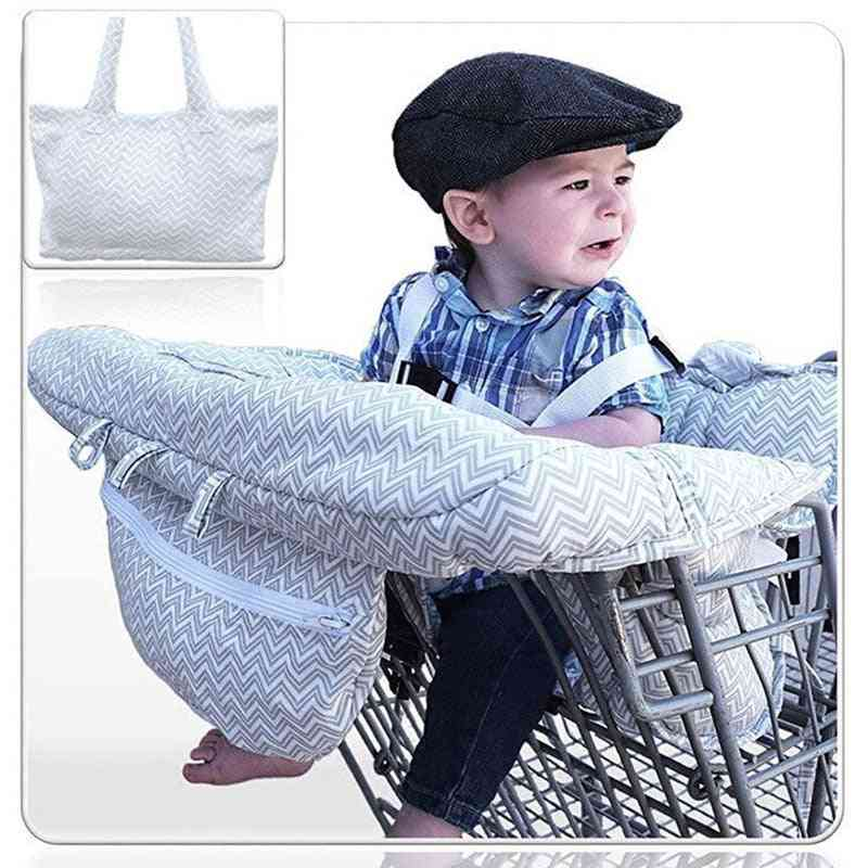 Washable Folding Baby Shopping Cart Cover, Warm, Supermarket Highchair Seat Car Purchase Protector