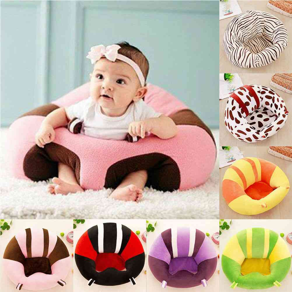 Infant Toddler Baby Kids Support Seat, Sit Up Soft Chair Cushion Sofa, Plush Pillow Toy, Bean Bag, Animal Cover