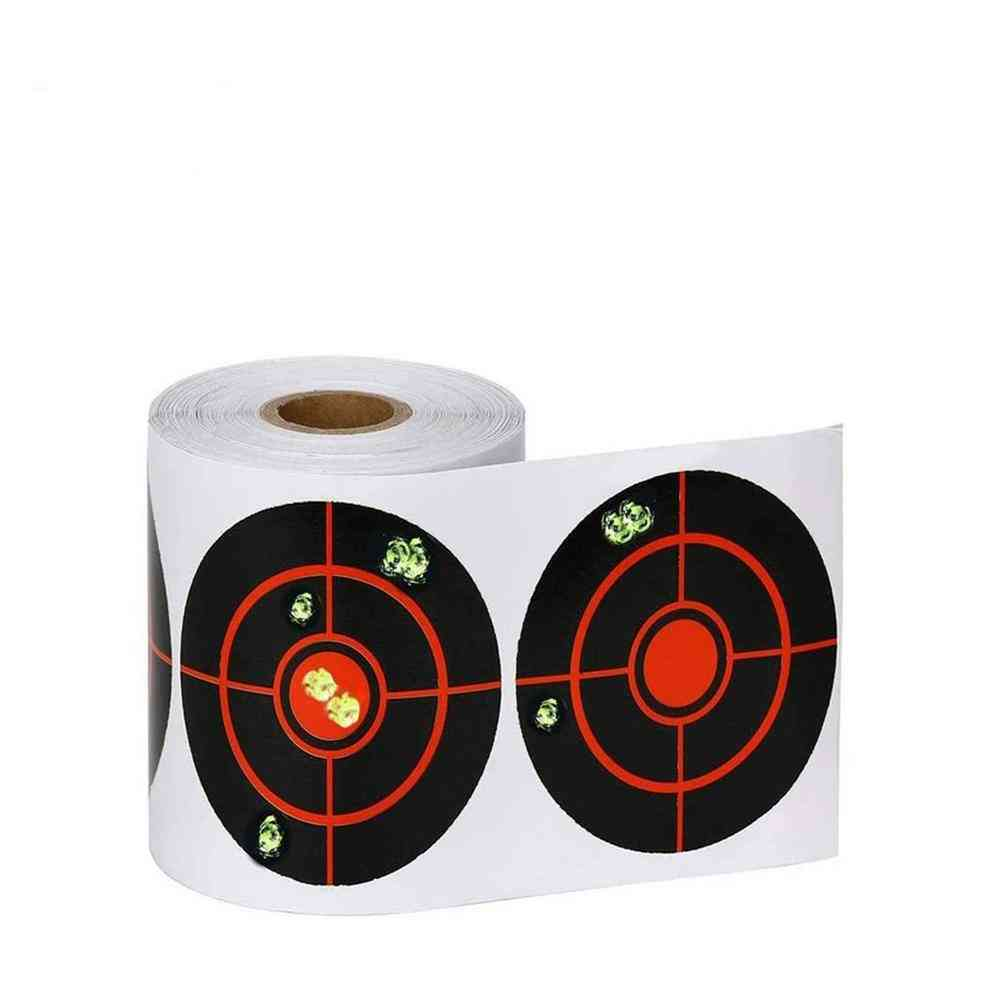 Shooting Splatter Target Stickers Roll Adhesive Stickers