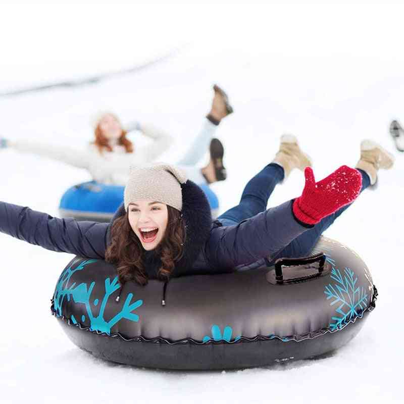 Snow Tube Inflatable  Ski Circle Floated Skiing Board Pvc With Handle