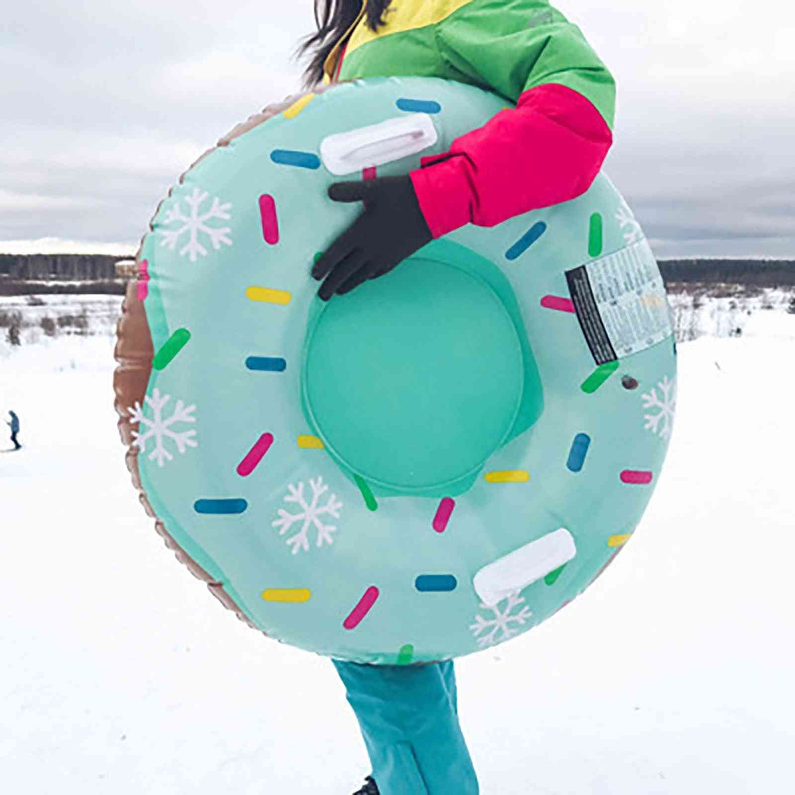 Inflatable Floated Skiing Ring With Handle