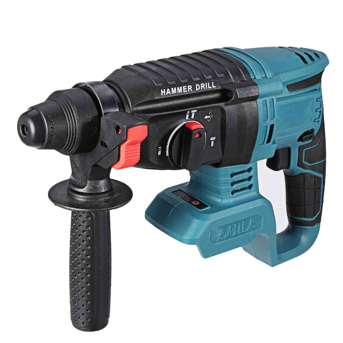 Electric Rotary Hammer Rechargeable Multifunction Electric Hammer Impact Power Drill Tool