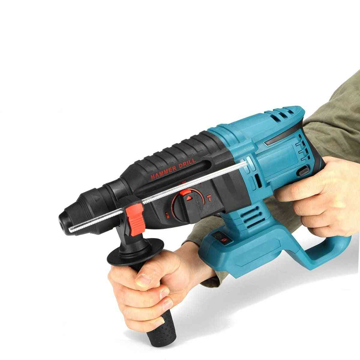Rechargeable Brushless Cordless Rotary Hammer Drill Impact Function Electric Hammer