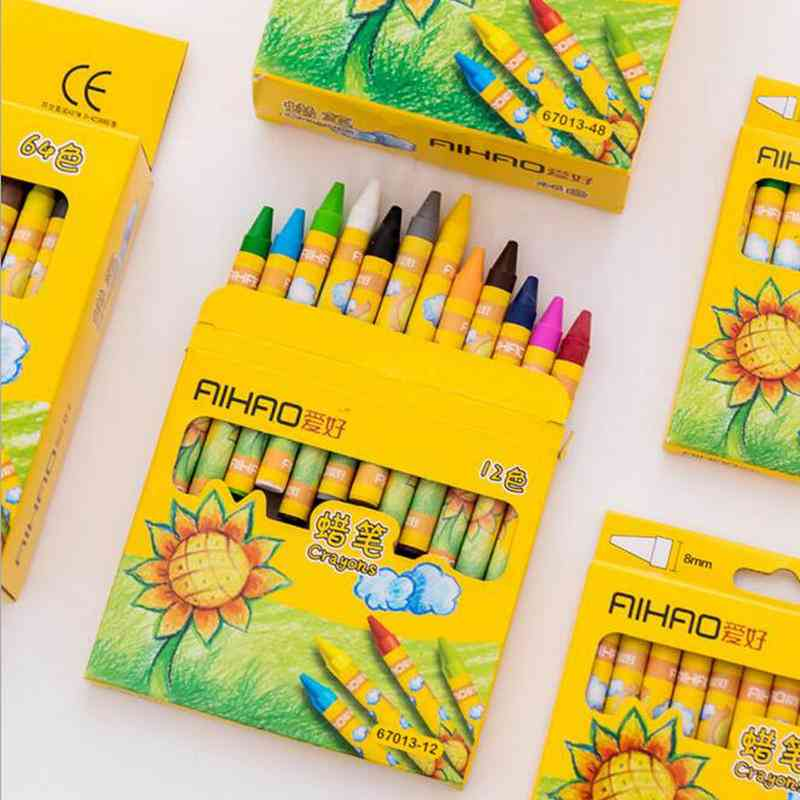 Drawing Wax Caryon Pencil Students And's Birthday School Stationery