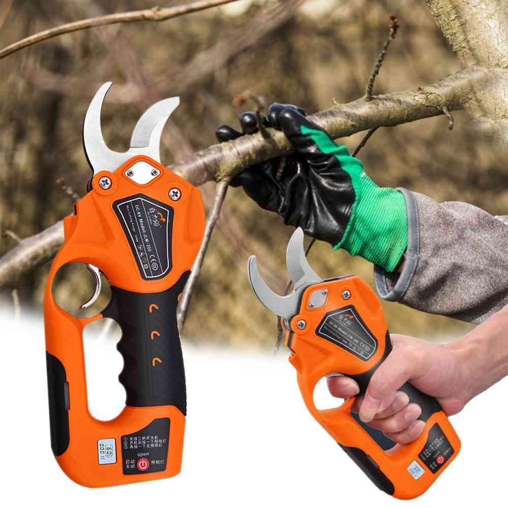Cordless Electric Pruner Pruning Shear Efficient Fruit Tree Bonsai Cutter
