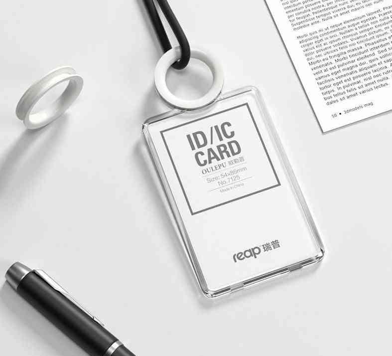 Transparent Acrylic Creative Students Id Card Holder
