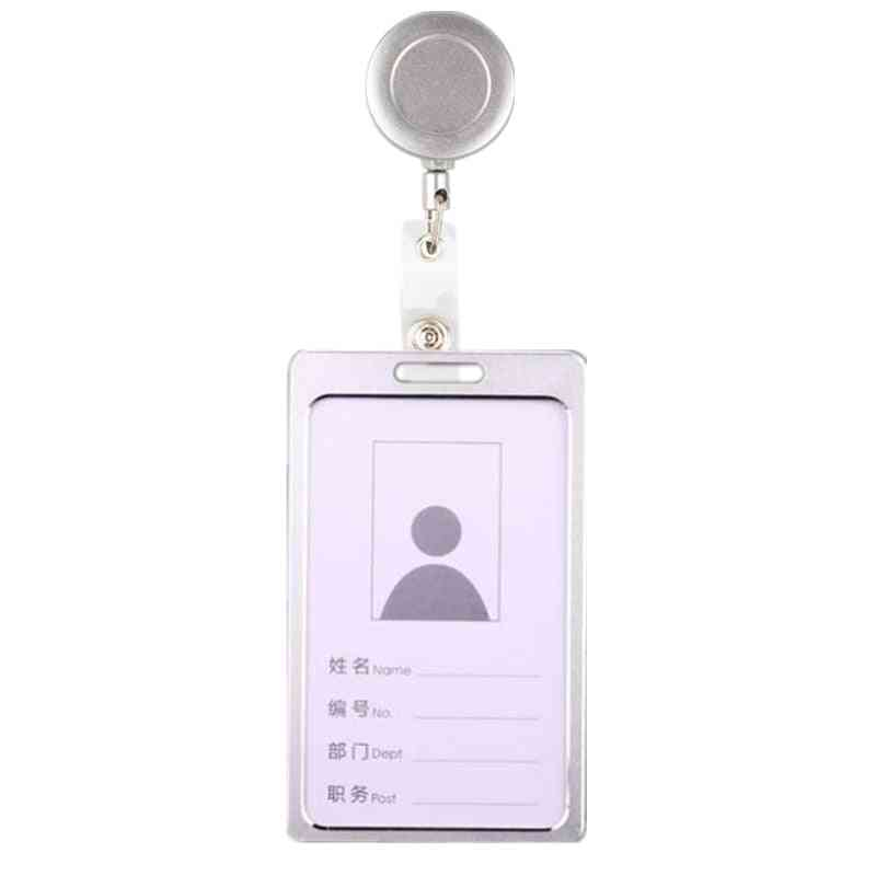 Id Card Holder Badge Reel Cute Pass Cover