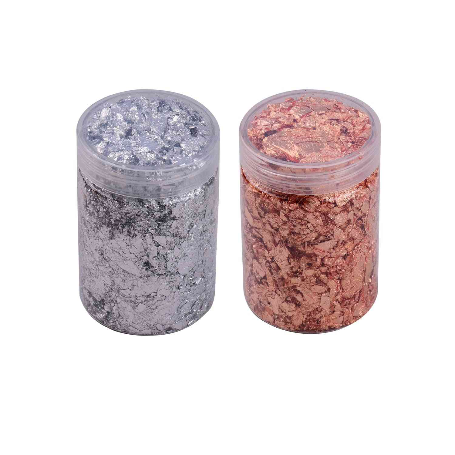 Imitation Gold Foil Flakes, Metallic For Resin Jewelry, Making Nails Art Painting, Diy Crafts Home Decoration