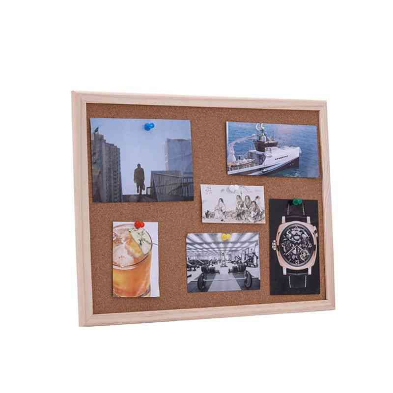Cork Board Drawing Pine, Wood Frame Boards, Home, Office, Bar Decorative Safe Package And Delivery