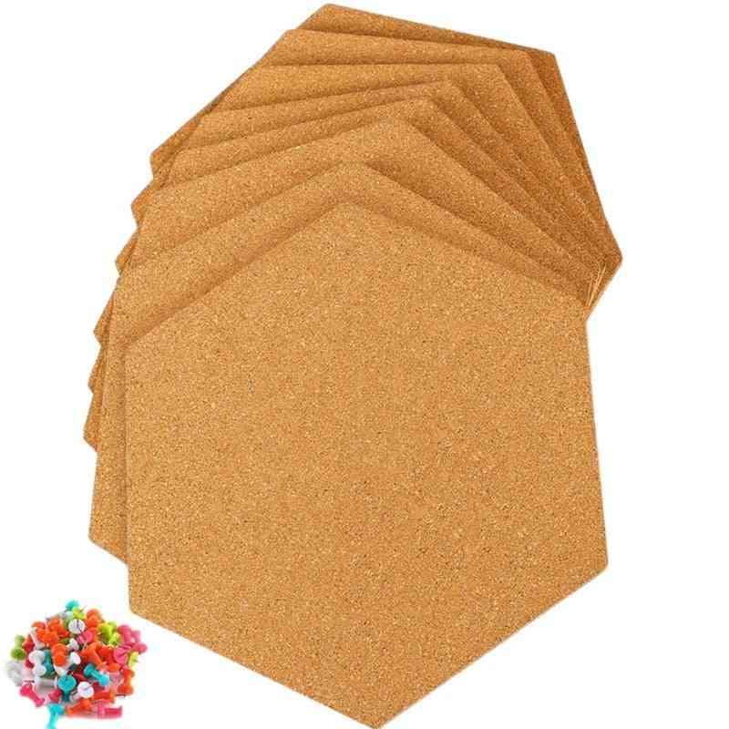 Hexagon Self Adhesive Cork Tiles, Wall Bulletin Boards, Pictures, Office, Memo And Home Decor